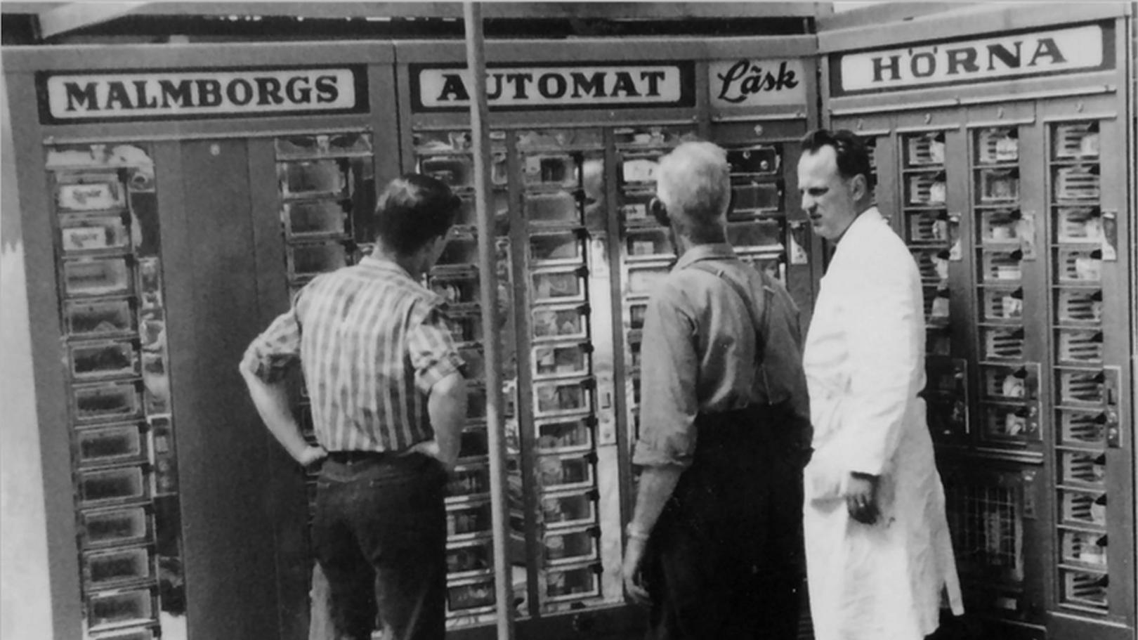 Malmborgs mjölkbutik 1954